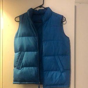 Vintage KY Blue Lands End Puffer Vest Jacket